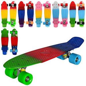 Пенни борд пластик Profi MS 0746 скейт детский разноцветный
