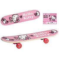 Скейтборд детский Profi HK 0052 Kitty для девочки розовый с сумкой