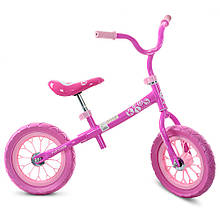 Беговел детский для девочки Profi Kids M 3255-1 велокат розовый