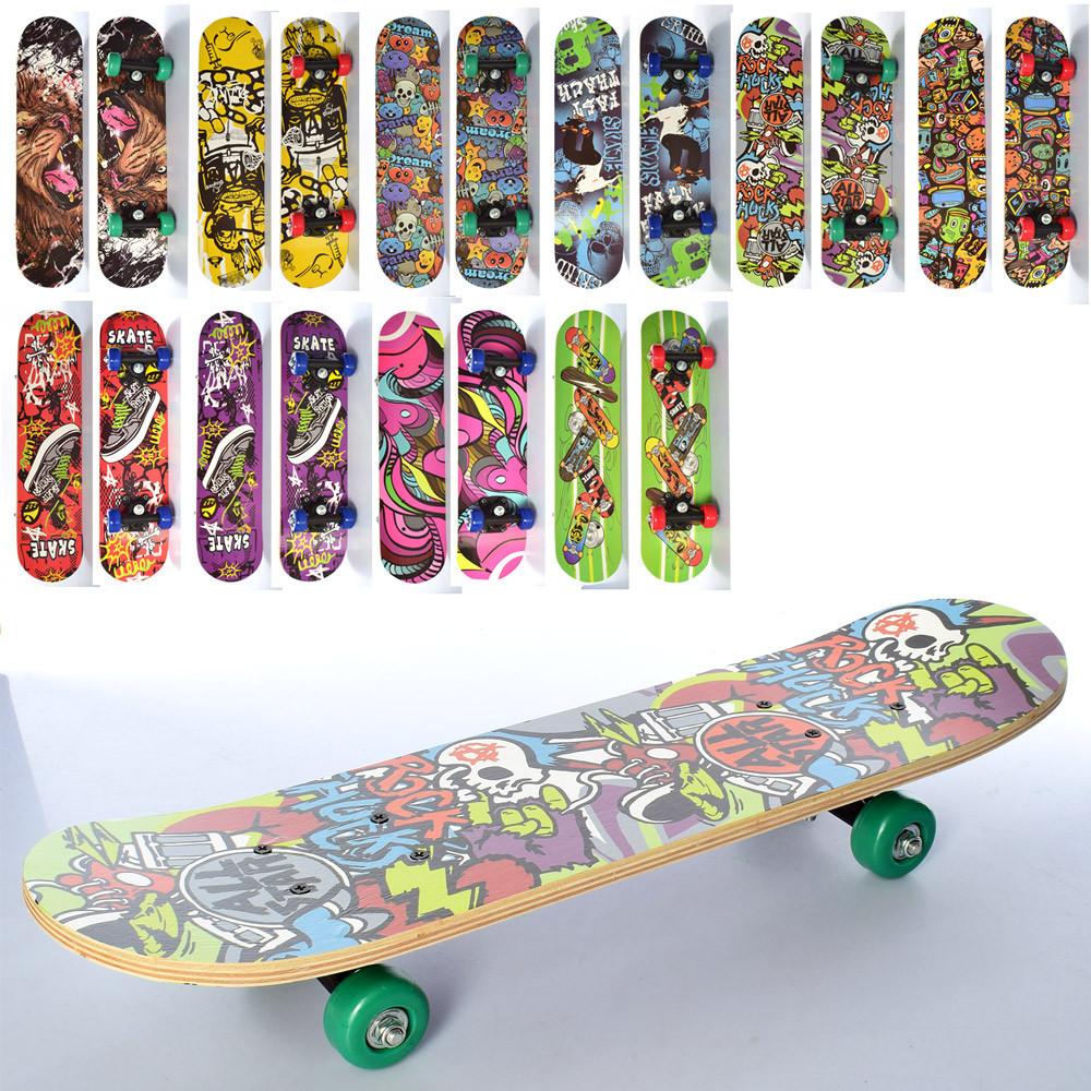 Детский деревянный скейт PROFI MS 0323-4 размер деки 60*15