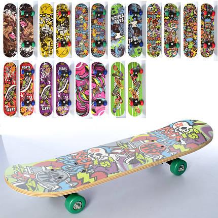 Детский деревянный скейт PROFI MS 0323-4 размер деки 60*15, фото 2