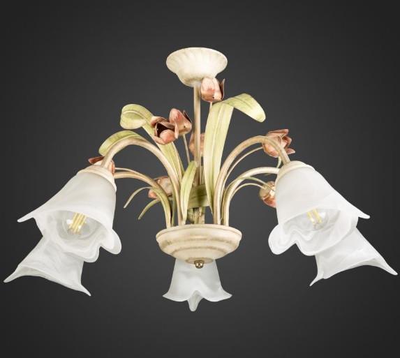 Люстра подвесная флористика 5 ламп AR-002072