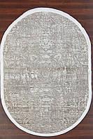 Бежевый овальный ковер, абстракция, фото 1