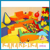 Детская игровая мягкая комната до 25 кв.м