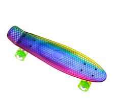 Пенни борд Penny Board с подсветкой хамелеон