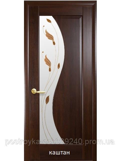Двери межкомнатные Маэстра Эскада Р1 Новый Стиль ПВХ со стеклом сатин 60, 70, 80, 90