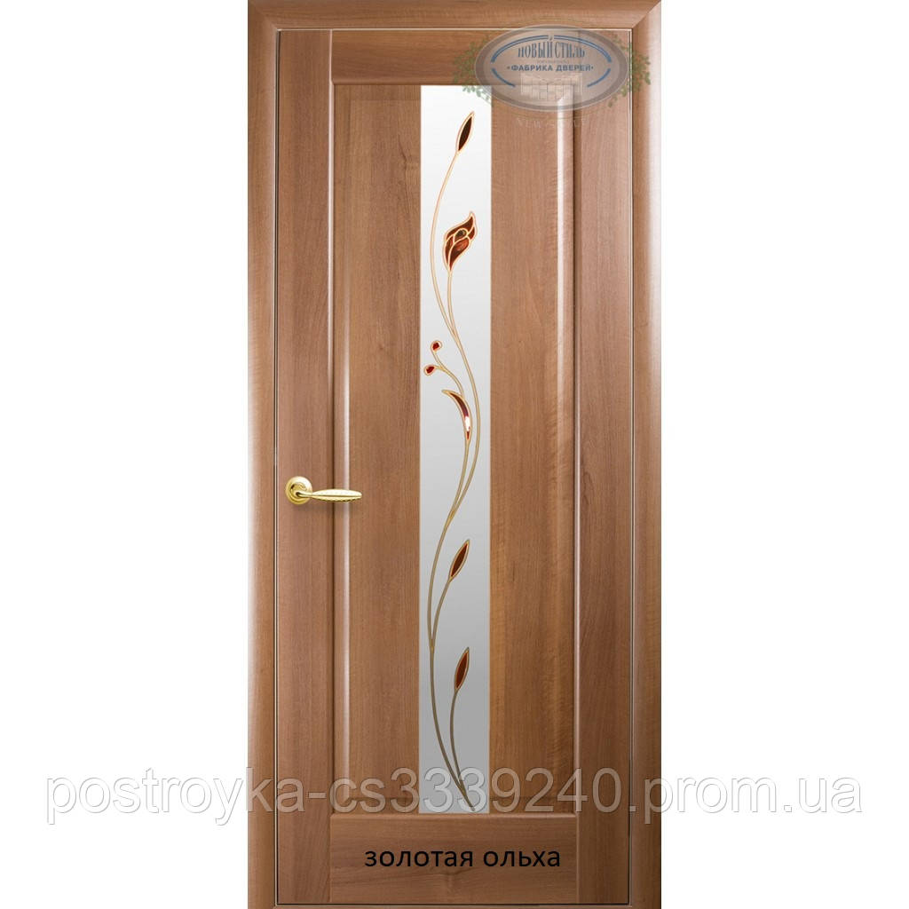 Двери межкомнатные Маэстра Премьера Р1 Новый Стиль ПВХ со стеклом сатин 60, 70, 80, 90