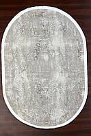 Рельефный овальный бежевый ковер, фото 1