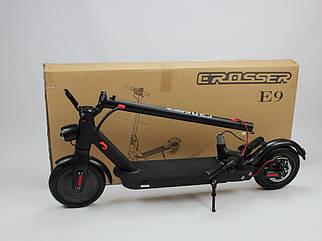 "Электросамокат Crosser E9   колеса 8,5"" ,батарея 7.5 mAh  складной с подсветкой"