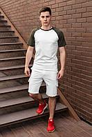 Футболка + шорты мужской летний комплект. Стильный мужской костюм футболка +шорты. , фото 1
