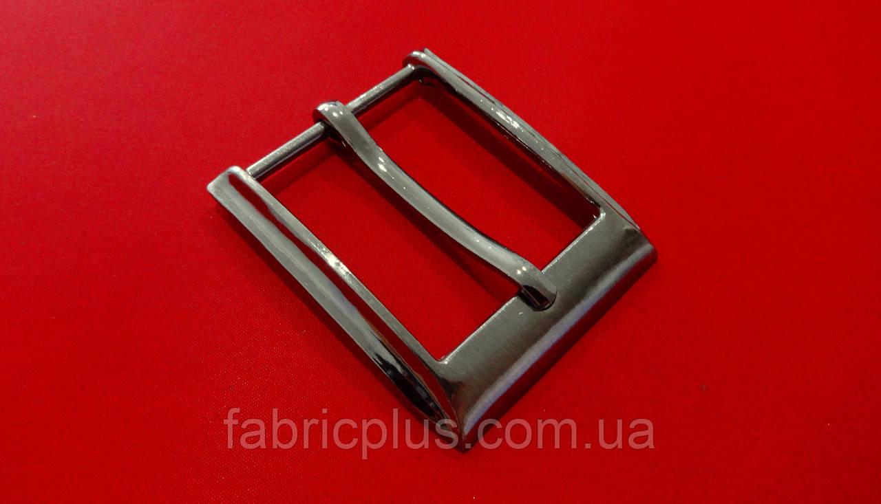 Пряжка классическая  3,5 см/1 прокол темный никель