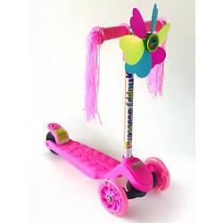 Самокат детский Scooter стильный с украшениями