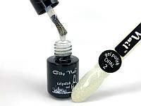 Полупрозрачный Белый Гель Лак для ногтей с мелким шиммером - Опал 02 OPAL City Nail 6мл