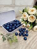 Темно-сині бусіни з дерева, діаметр 1,3 см, 50 шт/уп 15 грн, фото 4