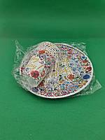 """Одноразовый набор бумажной посуды №4/23 """"Happy Birthday"""" (1 пач)заходи на сайт Уманьпак"""