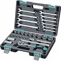 Набор инструментов 1/2, CrV пластиковый кейс 31 предмет. STELS 14102