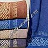 Махровое банное полотенце Ромб с волной