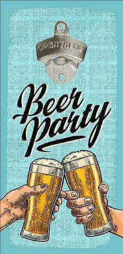 Настенная открывалка для бутылок Beer party