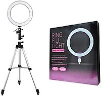 Кольцевая лампа со штативом 135 см для блогера, визажиста, фото 1