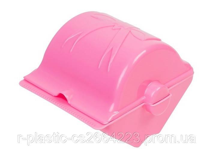 "Бумагодержатель R-Plastic ""Бантик"" пластиковий рожевий"
