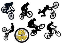"Вафельна картинка  ""Велосипедист"""