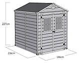Садовий будиночок сарай Keter Scala 6x8 Shed, фото 9