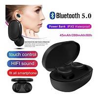 Беспроводные Bluetooth Наушники A6s Black (Xiaomi Airdots реплика) Bluetooth V5.0 Стерео бас с шумоподавлением