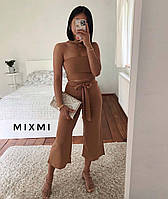 Женский летний костюм топ+штаны кюлоты. Новинка 2020