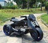 Детский трехколесный электромобиль мотоцикл BMW Hurricane на резиновых колесах M 3926A-2 черный, фото 10