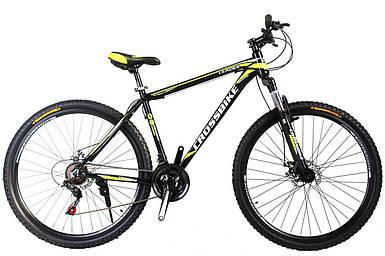 """Горный алюминиевый велосипед 27,5"""" CROSS LEADER Shimano 17, черно неоново-желтый"""
