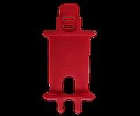 Силиконовый держатель для телефона на велосипед красный, фото 1
