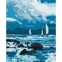 Картина по номерам Бурное море ТМ Идейка 40 х 50 см КНО2747, фото 1