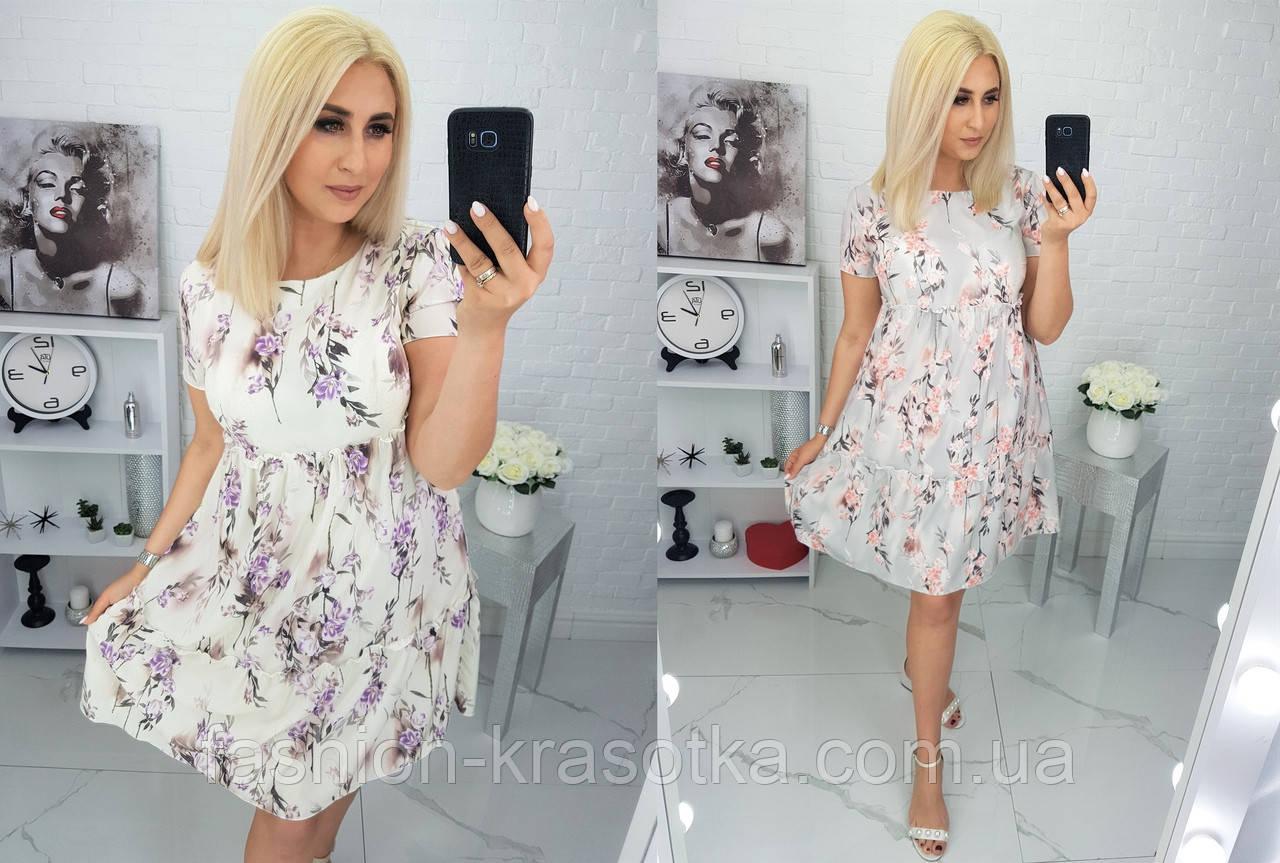 Летнее нарядное платье,ткань супер софт,размеры:48,50,52,54,56.