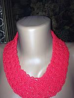 Намисто з бісеру плетіння ручної роботи 88 см