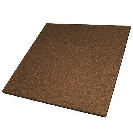 Гумова плитка 500х500х15 мм (коричнева) PuzzleGym