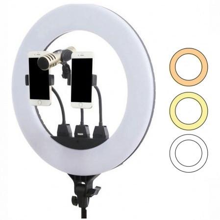 Кольцевая светодиодная лампа ZB-F488 со штативом диаметр 55 см