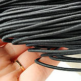 Шнурок-резинка круглый Luxyart диаметр 2 мм, черный, 200 метров (Р2-201), фото 2