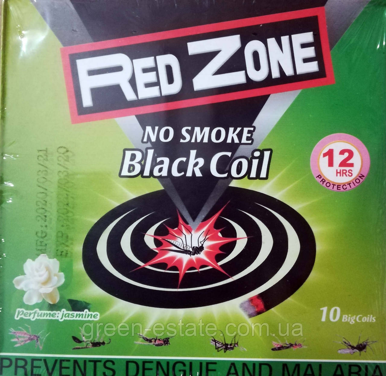 Спирали от комаров Red Zone без дыма 10 шт.
