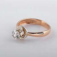 Кольцо с фианитом золотое помолвочное КП1676