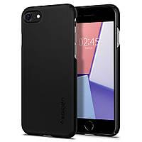 Чехол Spigen для iPhone SE 2020/8/7 Thin Fit, Mat Black (ACS00940), фото 1