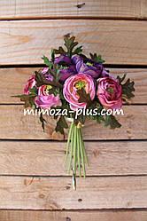 Искусственные цветы - Камелия пучок, 21 см