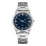 Часы кварцевые с серебристым браслетом, фото 2