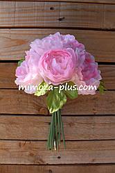 Искусственные цветы - Камелия пучок, 27 см
