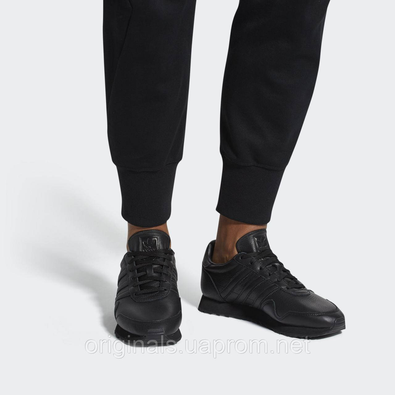 Кроссовки Adidas Originals Haven CQ3036 кожаные черные повседневные