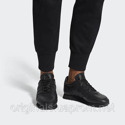 Кроссовки Adidas Originals Haven CQ3036 кожаные черные повседневные, фото 2