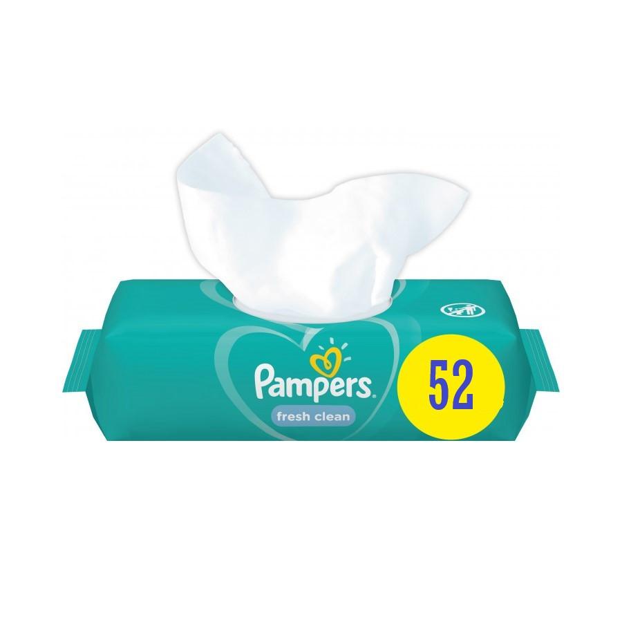 Вологі серветки Pampers Fresh Clean, 52шт