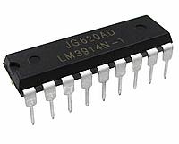 Драйвер линейных светодиодных индикаторов, LM3914N-1/NOPB, [DIP-18], фото 1