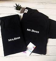 """Парные футболки """"Mrs.Boss & Mr.Boss"""""""
