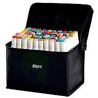 Набор двусторонних маркеров Touch для скетчинга на спиртовой основе 80 штук Разноцветные