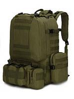 Рюкзак з підсумкими на 55 літрів RVL B08-оліва